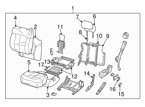 FRONT SEAT COMPONENTS for 2004 Chevrolet Tahoe