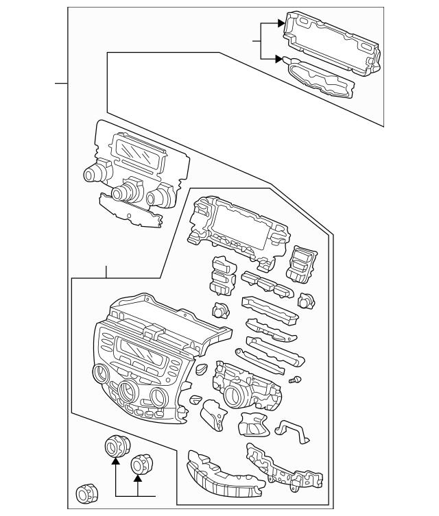 Control Assembly, Center Panel *NH482L* (Black Metallic