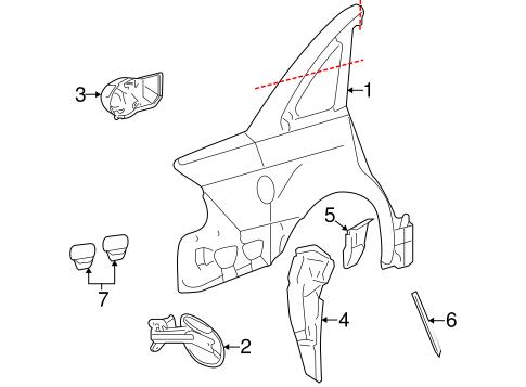 Quarter Panel & Components for 2006 Mercury Montego