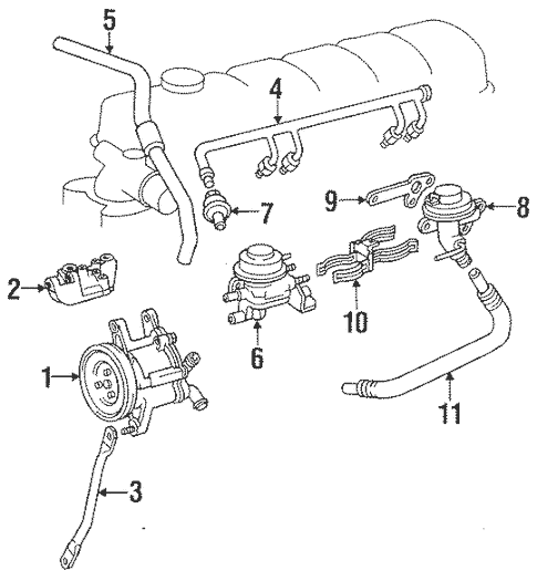 Genuine OEM A.I.R. System Parts for 1992 Toyota Land
