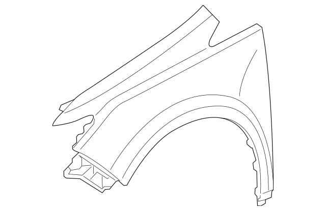 Genuine 2011-2013 Honda ODYSSEY 5-DOOR Fender, L Front