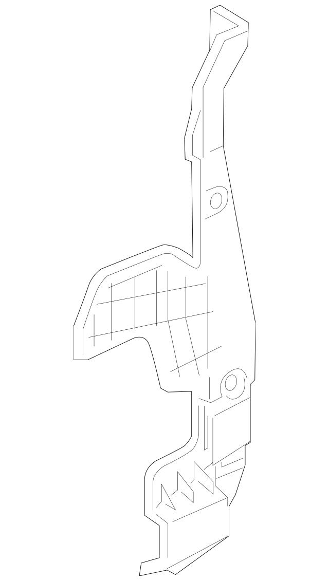 Genuine 2011-2016 Honda ODYSSEY 5-DOOR Plate, L Front Air