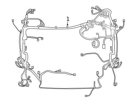 Genuine OEM Wiring Harness Parts for 2019 Toyota RAV4