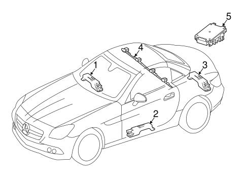 Keyless Entry Components for 2013 Mercedes-Benz SLK 250