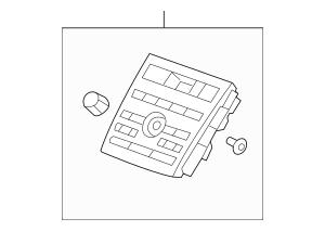 2010-2012 Acura RDX 5-DOOR Panel Assembly, Audio Switch