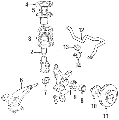Genuine OEM Front Brakes Parts for 1988 Toyota Corolla