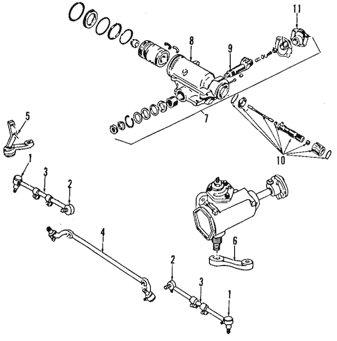 STEERING GEAR & LINKAGE for 1993 Dodge D250