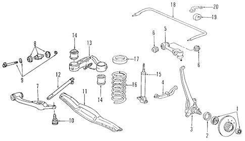 Suspension Components for 1990 Mercedes-Benz 560 SEC