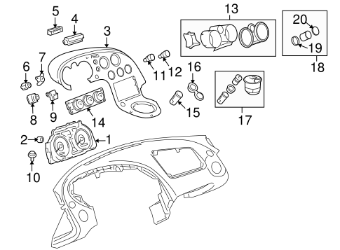 Headlamp Components for 2007 Pontiac Solstice