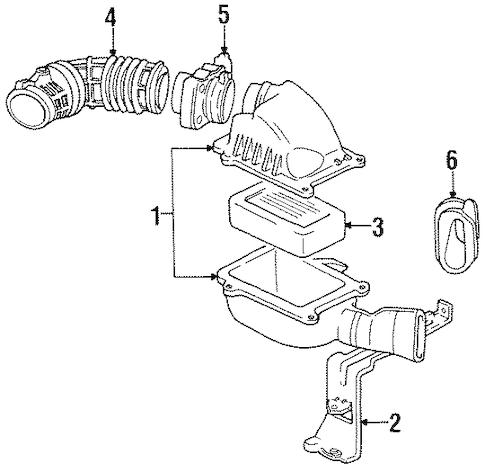 AIR INTAKE for 1996 Oldsmobile Cutlass Supreme