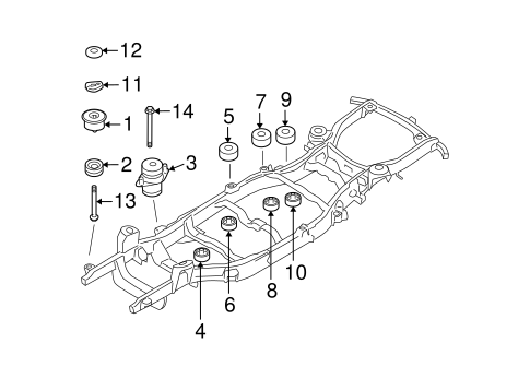 FRAME COMPONENTS for 2010 Mercury Mountaineer