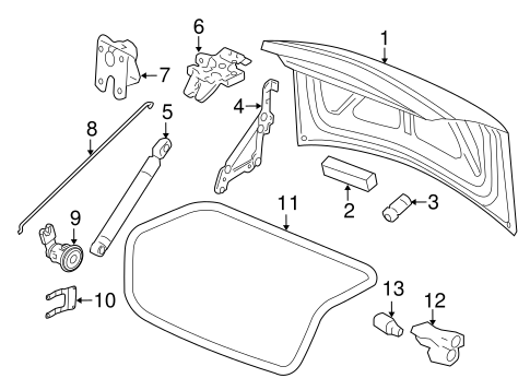 LID & COMPONENTS for 2007 Chevrolet Impala