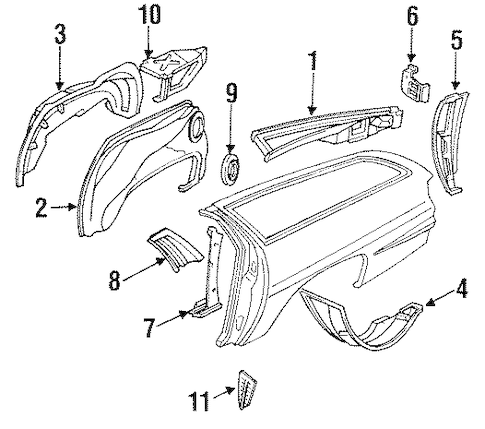 OEM INNER STRUCTURE for 1995 Chevrolet Caprice