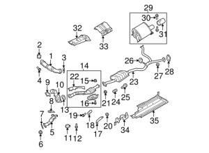 Exhaust Components for 2005 Subaru Legacy | Subaru Parts