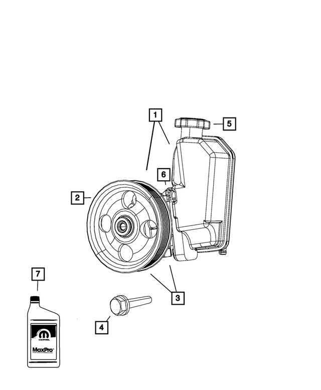 OEM Mopar Power Steering With Pulley Pump Assembly