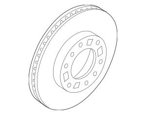 Genuine OEM Rotor Part# 51712-4Z000 Fits 2014-2015 Kia