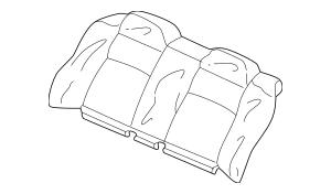 2004-2005 Honda CIVIC HYBRID SEDAN Cover, Rear Seat-Back