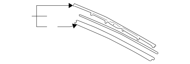 1996-2004 Acura RL SEDAN Blade, Windshield Wiper (550MM