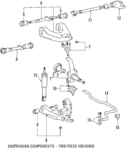 Genuine OEM UPPER CONTROL ARM Parts for 1994 Toyota Land