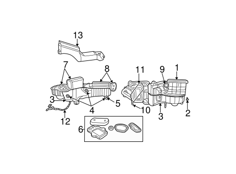 Evaporator & Heater Components for 2003 Chrysler PT