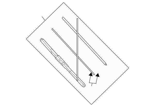 Genuine OEM Mazda Wiper Blade Part# BHS3-67-330 Fits 2014