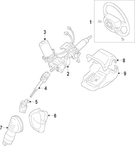 Genuine OEM Steering Wheel Parts for 2016 Toyota Prius C
