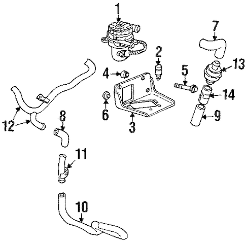 OEM EMISSION COMPONENTS for 2002 Pontiac Grand Prix