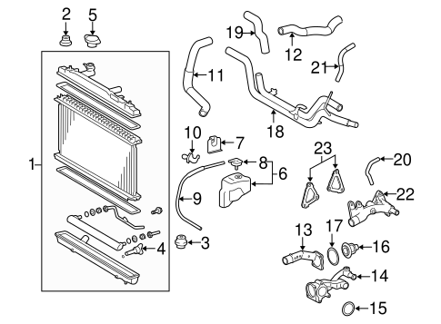 RADIATOR & COMPONENTS for 2007 Toyota Avalon