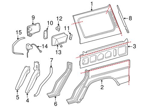 Quarter Panel & Components for 2017 Mercedes-Benz G 550