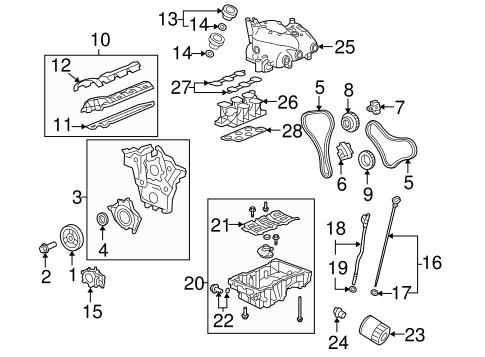 ENGINE PARTS for 2009 Pontiac Torrent