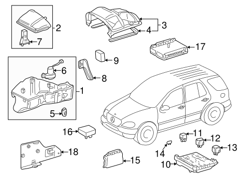 Electrical Components for 2002 Mercedes-Benz ML 500