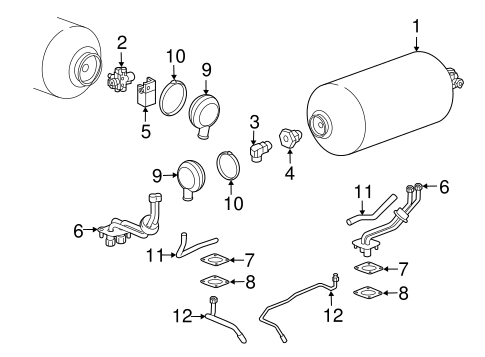 Fuel System Components for 2015 Chevrolet Impala