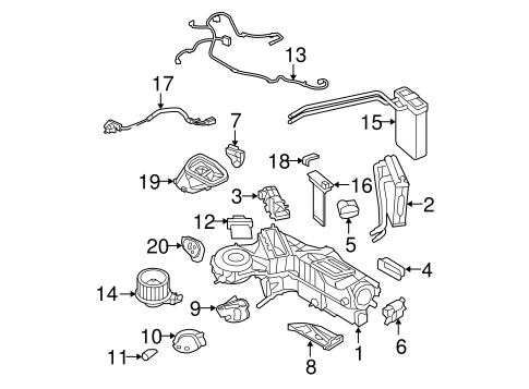 Evaporator & Heater Components for 2010 Ford F-350 Super