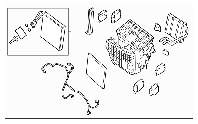 2013-2019 Nissan Pathfinder AC & Heater Assembly 27110