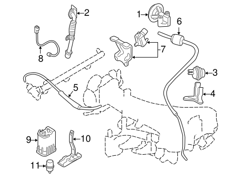 Emission Components for 2002 Mitsubishi Montero Sport ES
