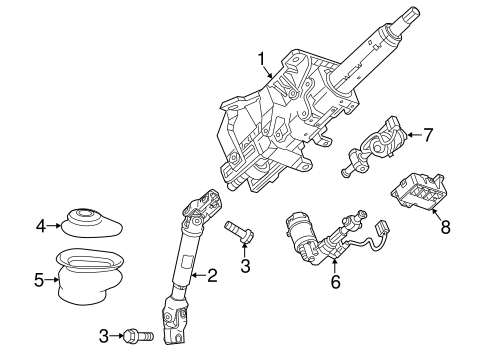 OEM STEERING COLUMN ASSEMBLY for 2015 Cadillac ELR