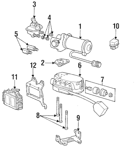 ABS Components for 1993 Ford Crown Victoria