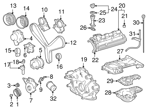 Genuine OEM Engine Parts Parts for 2001 Toyota Tundra