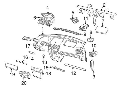 Ford Fusion/Mercury Milan/Lincoln Mkz Black Dashboard