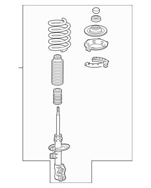 2012-2013 Honda FIT 5-DOOR Shock Absorber Assembly, L