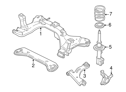 Suspension Components for 2005 Mercury Mariner