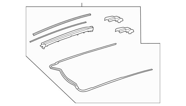 Mercedes-Benz Sliding Roof Mechanics 205-780-01-75-28