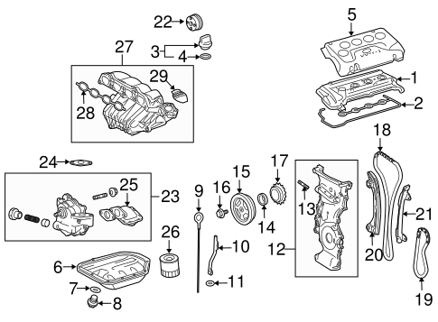 Genuine OEM Engine Parts Parts for 2006 Scion tC Base
