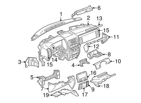 Instrument Panel for 2004 Jeep Grand Cherokee Parts