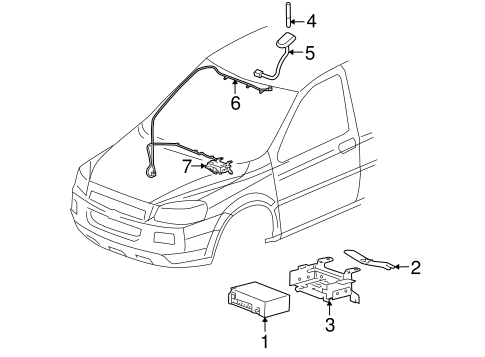 OEM ELECTRICAL COMPONENTS for 2005 Buick Terraza
