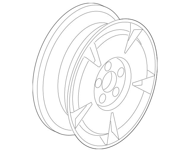 2006-2007 Honda CIVIC HYBRID SEDAN Disk, Aluminum Wheel