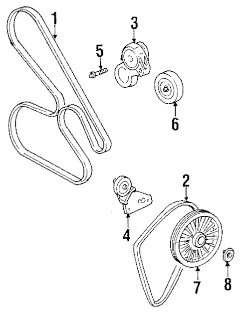 Belts & Pulleys for 2001 Oldsmobile Aurora