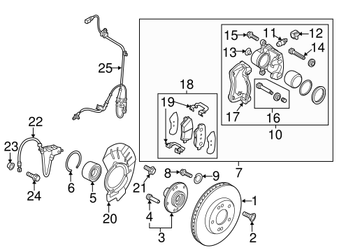 BRAKE COMPONENTS for 2014 Kia Soul