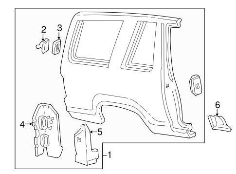 Quarter Panel & Components for 2002 Ford Explorer Sport