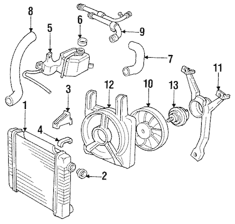 OEM RADIATOR & COMPONENTS for 1993 Pontiac Sunbird
